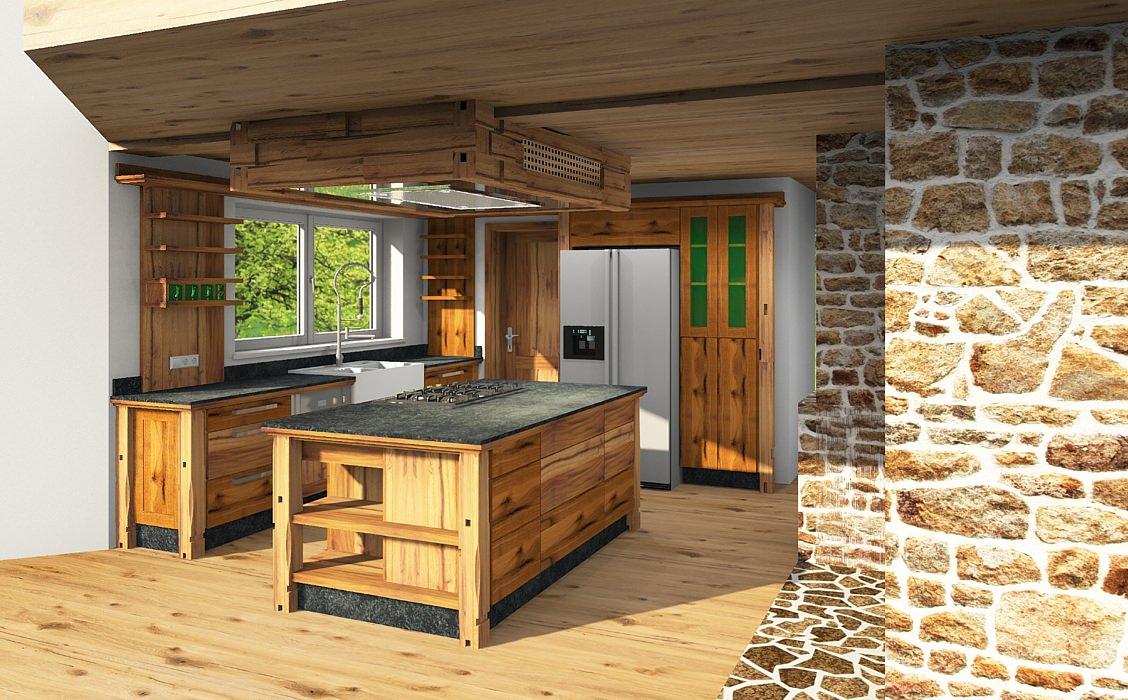 total chice Altholzküche stilvoll und wunderschön