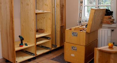 Massivholzküchenmontage