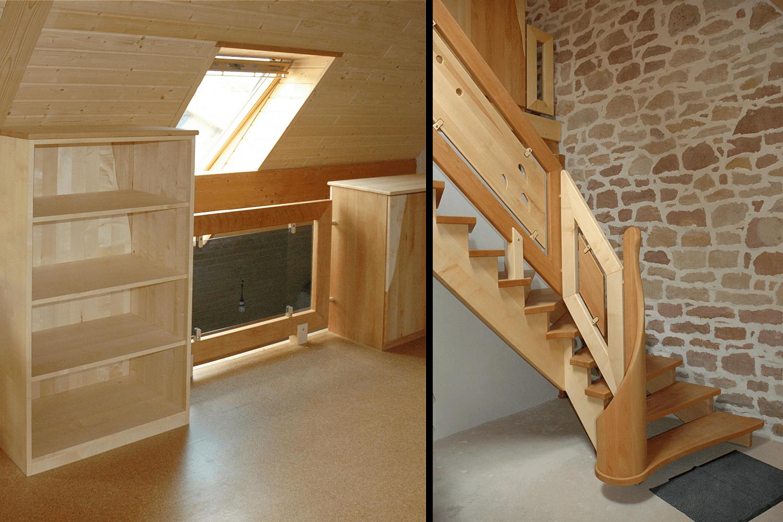 aufgesattelte treppe m bel als gel nder. Black Bedroom Furniture Sets. Home Design Ideas