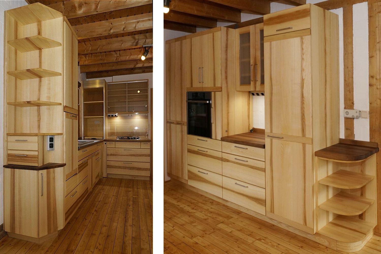 vollholzk che kernholz olivesche. Black Bedroom Furniture Sets. Home Design Ideas