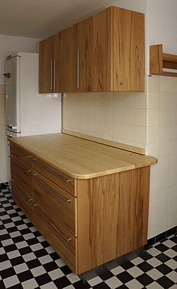 Massivholzküche für einen Altbau