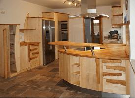 individuelle massivholzküche