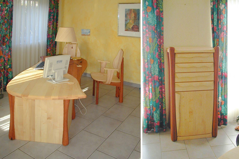 Praxiseinrichtung & Büromöbel Massivholz