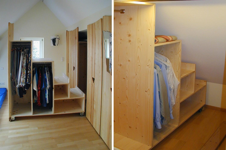 massivholzm bel in der dachschr ge. Black Bedroom Furniture Sets. Home Design Ideas