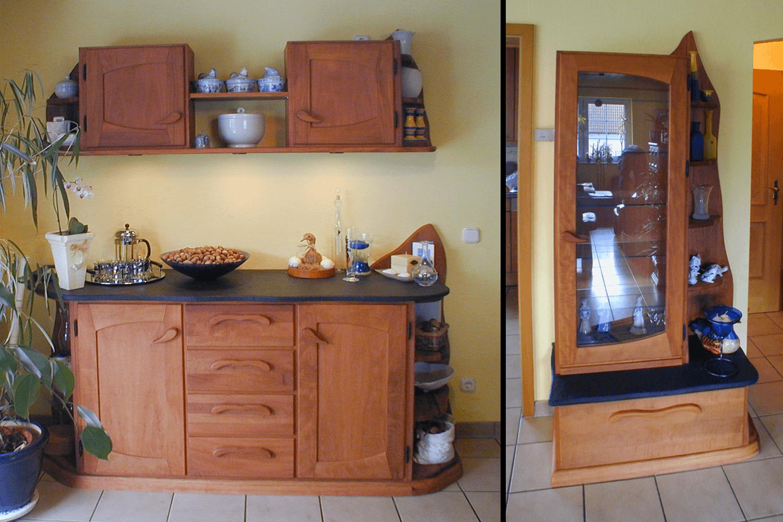 vollholzm bel wohnzimmer in birnbaum. Black Bedroom Furniture Sets. Home Design Ideas