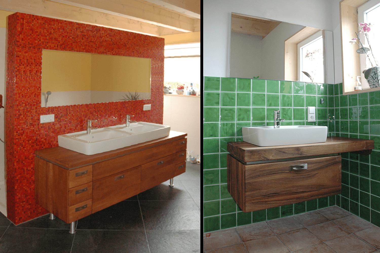 moderne badm bel in birnbaum und nussbaum. Black Bedroom Furniture Sets. Home Design Ideas