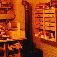 Der Werkstatt Ofen in der Wohnung im Elternhaus