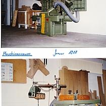 Unsere ersten Schreinerei Maschinen in Angelbachtal