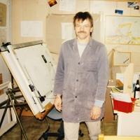 Unser erstes Büro damals noch ausgestattet mit Zeichenbrett
